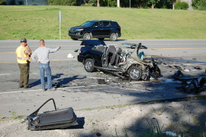 Deadly crash scene photo by Brian Mosely from the Shelbyville Times-Gazette