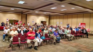 Huge crowd was on hand at the political forum held Thursday night.. Photo by Rob Clutter
