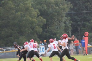 Jimmy Hollandsworth fire one of 3 TD's in Friday's action.. Photo by Barry West