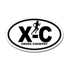 cross_country_runner_oval_decal