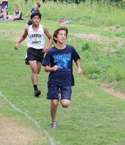 Andres Cavalie competes for Westwood's cross country team during Tuesday's meet... All photos by Dennis Weaver