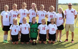 Coffee County Middle soccer Lady Raiders... Photos by Dennis Weaver