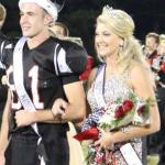 Homecoming King Cole Hawkins and Queen Morgan Taylor.. Photos by Barry West