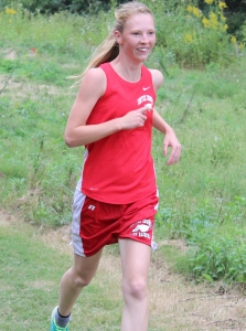 CCCHS foreign exchange student Nadja Hansen competes during Tuesday's cross country meet at Old Stone Fort