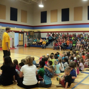 Westwood Elementary students await announcement last week... Photos by Samantha Watters