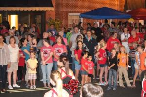 A crowd of over 1,000 people attended last night's pep rally... Photos by Barry West