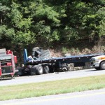Semi truck crashes on I-24 Thursday afternoon... Photos by Dennis Weaver