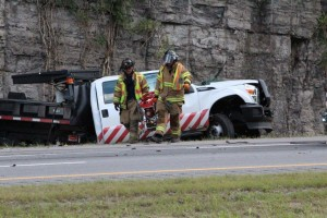 Two TDOT workers injured in the accident.