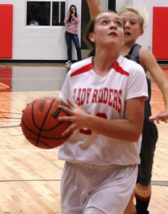 CCMS basketball player Keri Munn goes up for a shot in a recent game.
