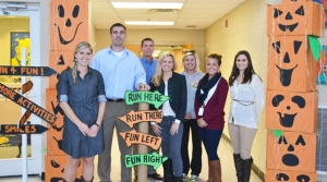 REL Fall Festival Team. Pictured R to L: Haley Lockhart, Dr. Woody Dillehay, Winston Brooks, Laurie Perry, Brittany Cleveland, Katie Kazmark and Adria White.