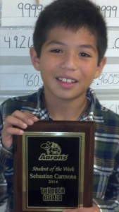 Sebastian Carmona - Aaron's Sales and Lease Student of the Week