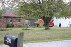 North Coffee Fire Department on the scene of Saturday's smoky fire... Photo by Barry West