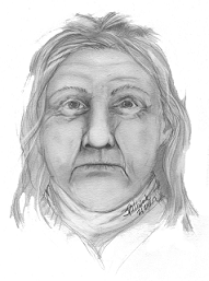 Composite drawing of the woman found 7 years ago.
