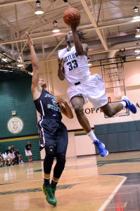 DeAndre Downey makes a move for two in a game earlier this season... Jeff Reed Photography
