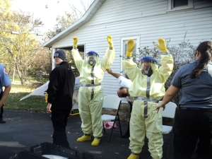 Ebola drills held in Coffee County. First responders go through several days of training.. Photo by Samantha Watters.