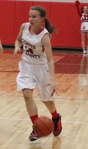Coffee Middle School basketball player Abby Morgan.