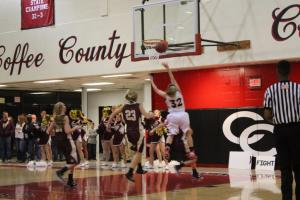 Sara Brown lays in two of her game high 23 points... Photos by Barry West