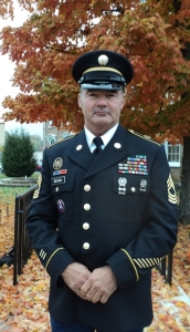 Veteran Tim Brown will lead the ceremony... Photo by Samantha Watters