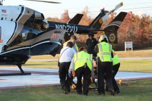LifeFlight helped to transport accident victims from the scene of Thursday's crash.