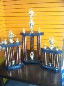 Red Raider Invitational trophies by Jetz Printing and Awards
