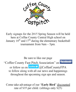 coffee co fastpitch