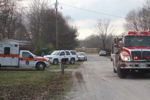 Emergency crews on the scene at the Hillsboro fire... Photo by Barry West