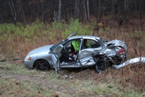 Jesus Fernandez of Tullahoma was the only person in the accident that totaled his car.