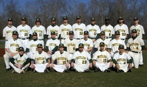 2015 Motlow Bucks - Members of the 2015 Motlow Bucks baseball team in numerical order are: 1-Josh Bankston, 2-Matt Sharp, 4-Darren White, 5-Cole Thiede, 6-Chris Fly, 7-Conner Boyd, 8-Deonte Parker, 9-Dylan Stark, 10-Thomas Davidson, 11-Casey Wehrhahn, 12-Hayden Bailey, 13-Jeremy Thurman, 14-Hunter Nance, 15-Charter Helton, 16-Taylor Paschal, 17-Aaron Hobbs, 19-Lincoln Rivera, 20-Patrick Poteet, 21-Nick Chambers, 23-Nate Newman, 24-Spencer Mossburg, 25-Cody Blackburn, 32-Dewayne Parsons, 33-Brody Thomasson, and Head Coach Dan McShea. Motlow College Photo.