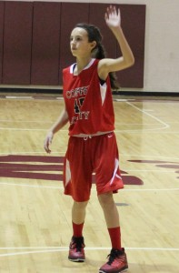 CCMS basketball player Bella Vinson