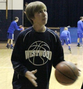 Westwood basketball player Chase Simpkins