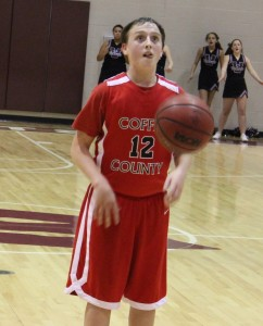 Chay Chumley concentrates on making a free throw versus West Tullahoma on Thursday.