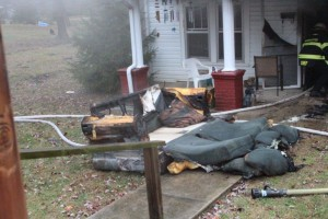 Some of the damage that occurred on Monday afternoon.