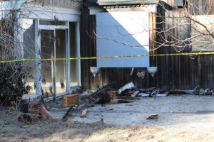 State Fire Marshal will investigate why this vacant home burned late Saturday night... Photos by Barry West
