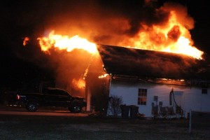 Heavy smoke and fire destroys a Hillsboro home on Thursday night... Photos by Barry West