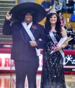 Caleb King(left) and Aubrey Southerland(right) are crowned King and Queen respectively during Winterfest festivities on Friday night.