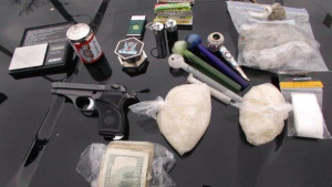 A portion of the items taken in drug bust. Photo provided.