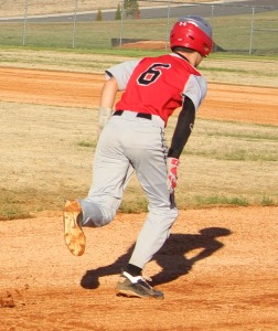 CCMS catcher Andrew Mahaffey breaks for 2nd base during Monday's baseball game with Harris