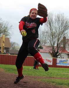 Brianna Jones warms up prior to Thursday game with Zion-Benton