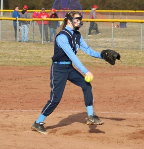 Hallie Wimberly of Westwood Middle delivers a pitch on Saturday in scrimmage action at Lynchburg against Fayetteville