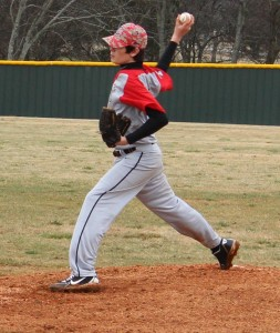 CCMS pitcher Harley Hinshaw delivers a pitch on Sunday against Whitworth Buchanan