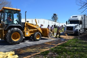 Tullahoma Fire Department, Public Works  and Coffee County EMA contain a diesel spill on Monday, March 16. The TFD was able to contain the spill until an environmental firm arrived to finish clean up. Public Works assisted with back hoe and sand... Photo provided