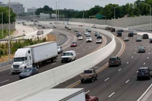 The federal government is reviewing ways to maintain revenue for infrastructure improvements on freeways like I-40, which runs across the length of Tennessee from the Mississippi River to the Smoky Mountains. Photo courtesy: Tennessee Department of Transportation.
