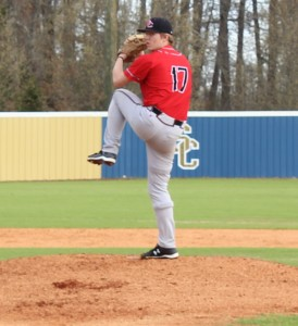 CHS senior pitcher Kohl Young delivers a pitch at Shelbyville on Wednesday afternoon.
