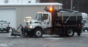 Similar salt truck involved in the accident on Thursday morning... Photo by Barry West