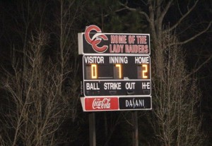 The scoreboard tells the story of a great game on Monday night... Photo by Barry West