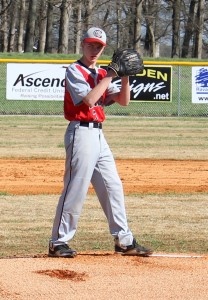 CCMS pitcher Scottie Duke in action on Saturday against Boyd Christian