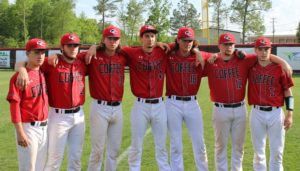 CHS Class of 2016 baseball players(left to right)