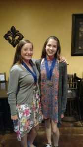 Haidyn Campbell & Hallie Wimberley with their All-Conference team medals