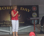 Congressman Diane Black introduces her husband at Manchester's Memorial Day event on Monday morning.