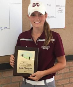 Ashley Gilliam with her School Days plaque. (Photo provided by Marshall Gilliam)